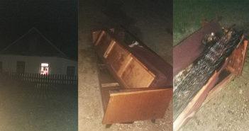 Ночью в одном из домов г. п. Кореличи загорелся диван