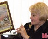 Антонина Овчинникова показала кореличчанам картины в технике ошибана