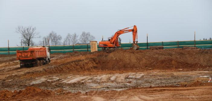 В Новогрудке строят спортивный комплекс для игровых видов спорта
