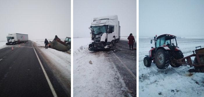ДТП с участием трактора и грузовика произошло в Кореличском районе