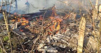 В Крышиловщине огонь уничтожил хозяйственную постройку