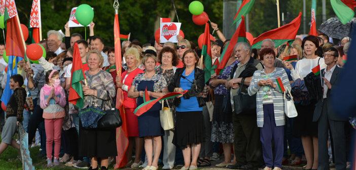 Как в Кореличах прошла акция в поддержку Александра Лукашенко